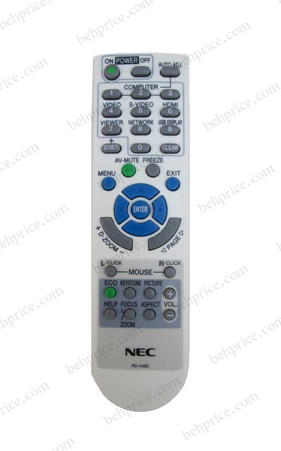 کنترل از راه دور ویدئو پروژکتور ان ای سی NP-VE281G