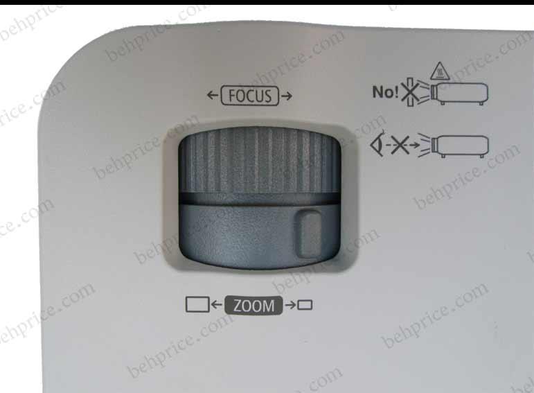 دکمه های بزرگنمایی و فوکوس ویدئو پروژکتور ان ای سی NEC NP-VE281G