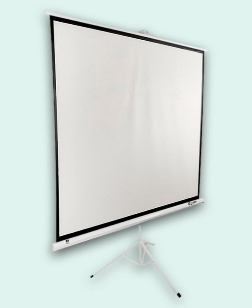SITRO Tripod Projector Screen 1.8x1.8 - Fiberglass