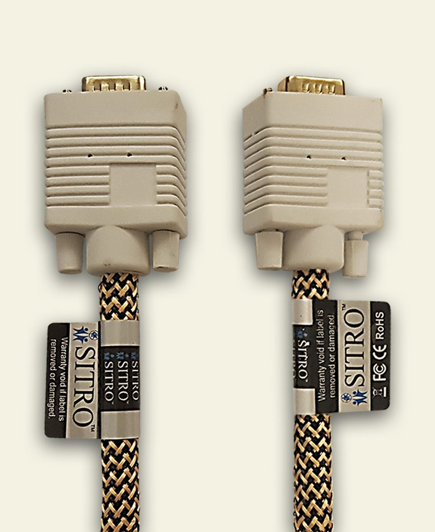 SITRO VGA Cable - White - 5 m