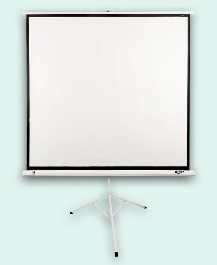 SITRO Tripod Projector Screen 1.5x1.5 - Fiberglass