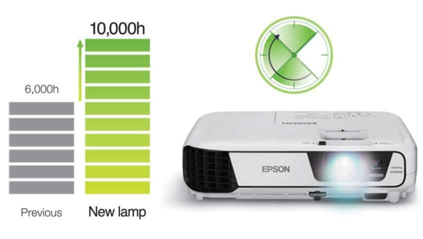 عمر لامپ ویدئو پروژکتور اپسون مدل EPSON EB-X05