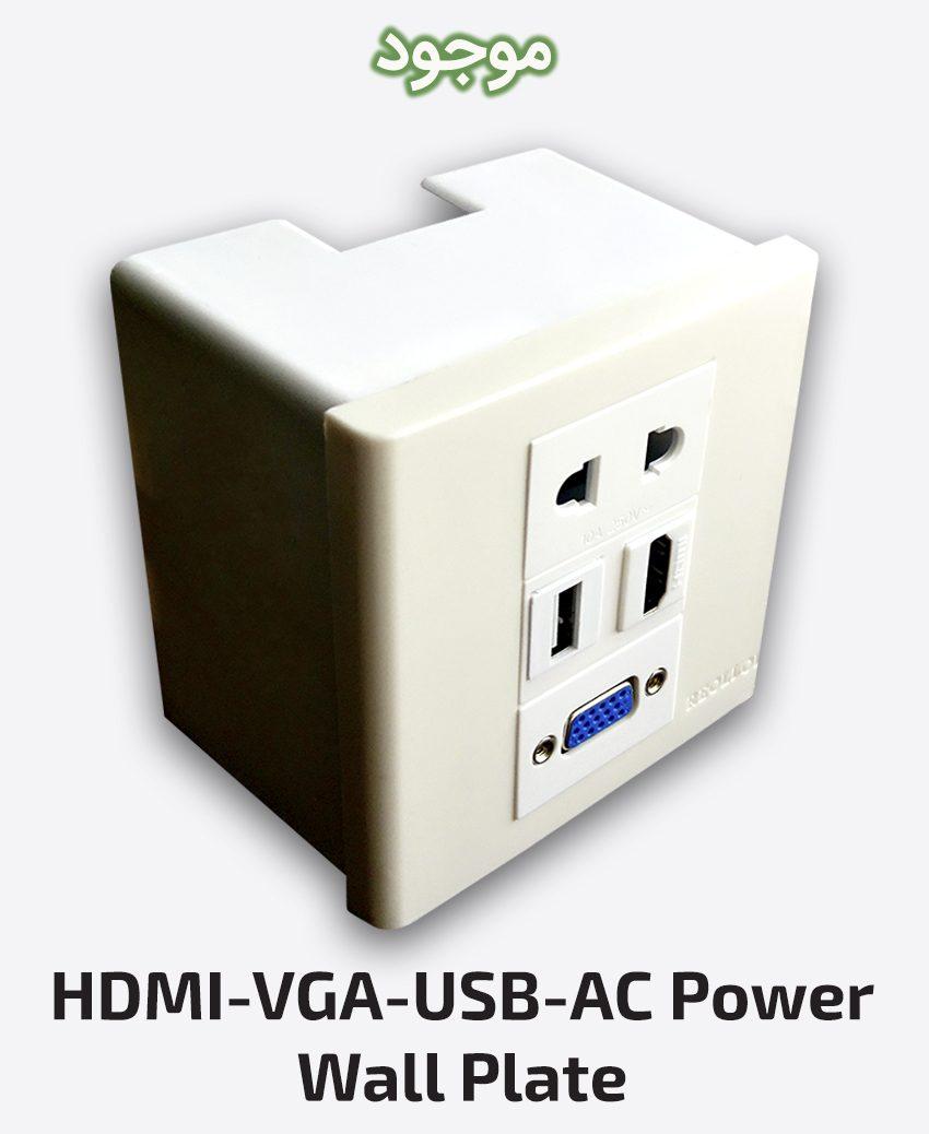 HDMI-VGA-USB-AC Power Wall Plate