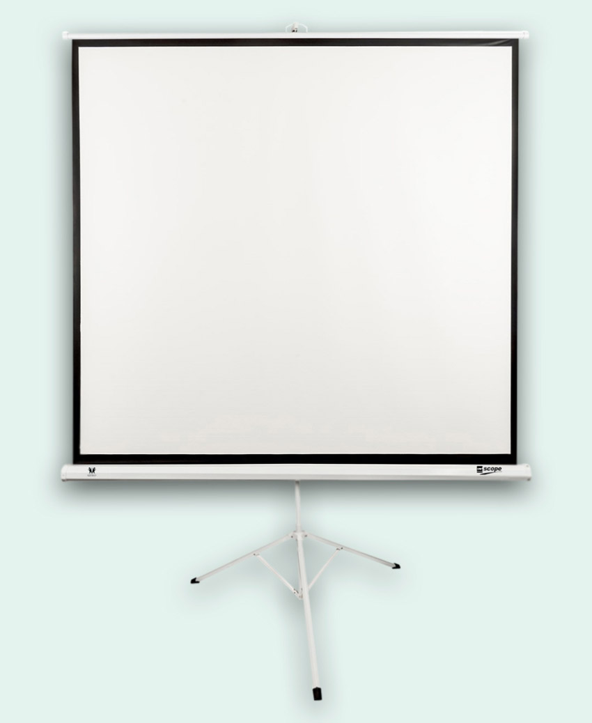 SITRO Tripod Projector Screen 2x2 - Fiberglass