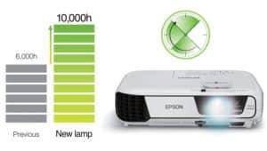 طول عمر زیاد لامپ ویدئو پروژکتور اپسون مدل EPSON EB-X31