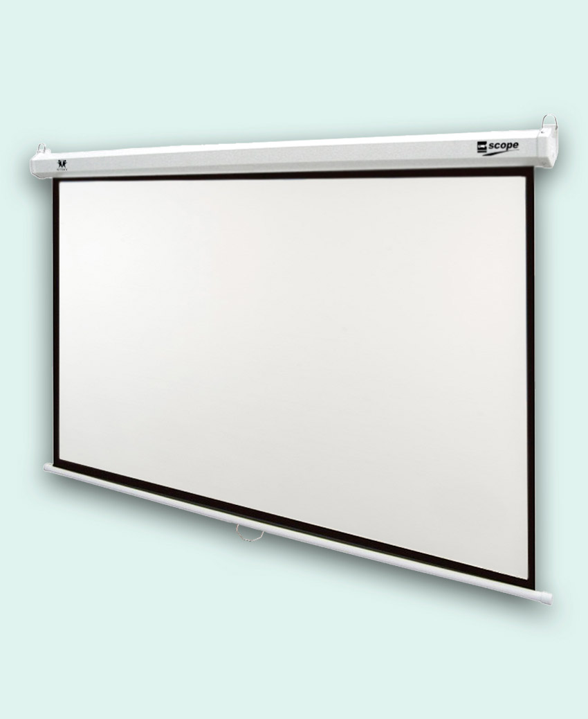 SCOPE Manual Projector Screen 3x3