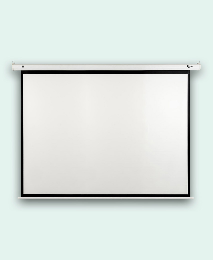 SCOPE - Electric - Projector Screen - 4×3 - Matt White