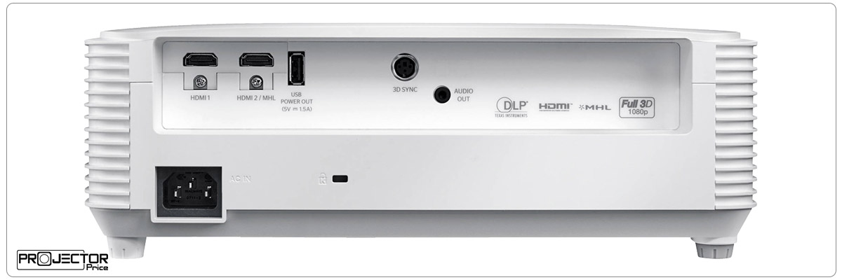 Optoma HD27HDR-Ports